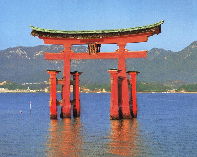 Vivian law miyajima torii gate historyofasianart2 for Japanese gates pictures